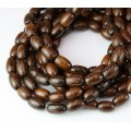 Robles Wood Beads, Brown, 9x6mm Oval