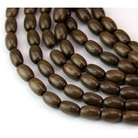 Greywood Beads, Grey Brown, 9x6mm Oval