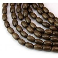 Greywood Beads, Grey Brown, 9x6mm Oval