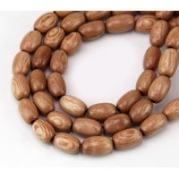 Rosewood Beads, Light Beige, 9x6mm Oval