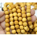 Wood Beads, Ochre Yellow, 8mm Round