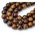 Sandalwood Beads, Warm Brown, 8mm Round