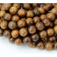 Sandalwood Beads, Warm Brown, 8mm Round