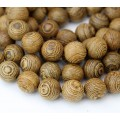 Sandalwood Beads, Light Brown, 10mm Round