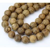 Sandalwood Beads, Light Brown, 6mm Round