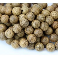 Sandalwood Beads, Light Brown, 8mm Round