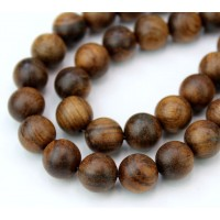 Sandalwood Beads, Warm Brown, 10mm Round