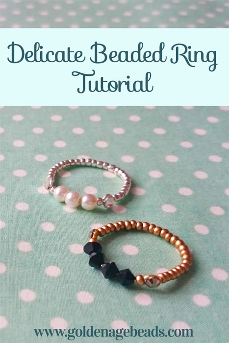 How to Make an Easy Delicate Beaded Ring | Golden Age Beads