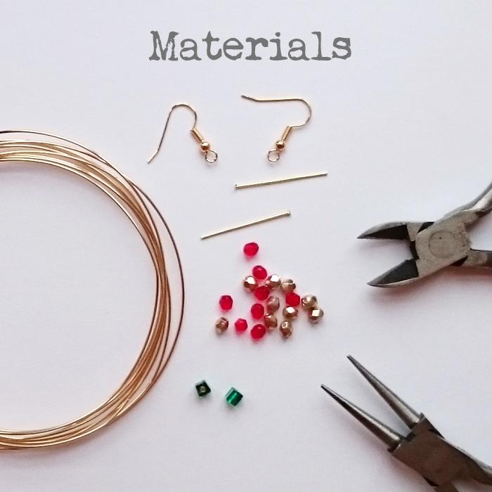 DIY Christmas Tree Earrings Tutorial Golden Age Beads - Make Christmas Tree Earrings