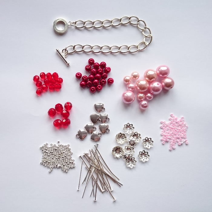 Diy Beaded Charm Bracelet Project For Valentine S Day Golden Age Beads