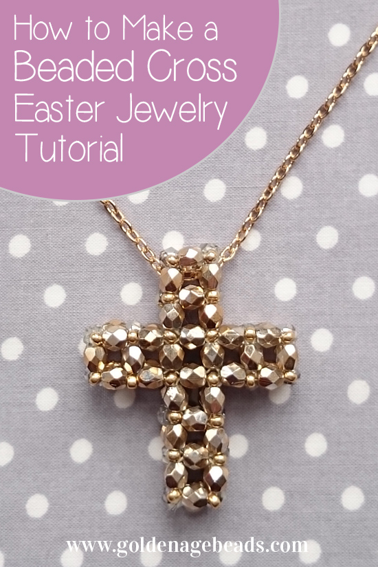 Easter jewelry making tutorial how to make a beaded for How to make beads craft