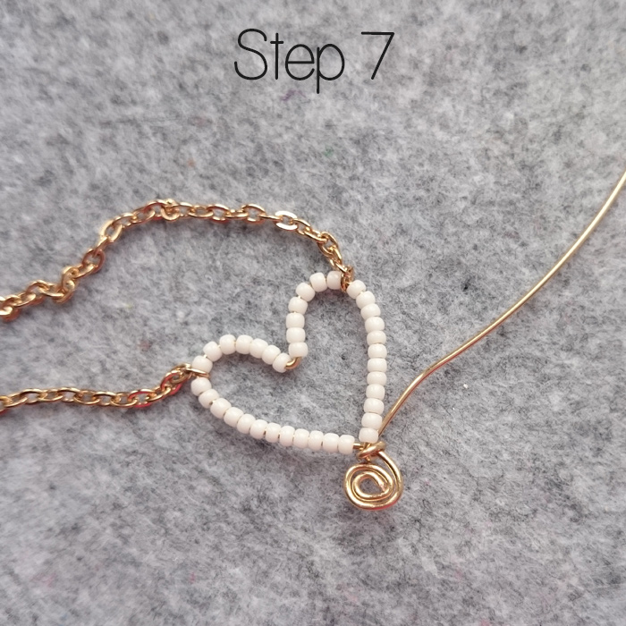 How to Make a Bead & Wire Heart Pendant   Golden Age Beads
