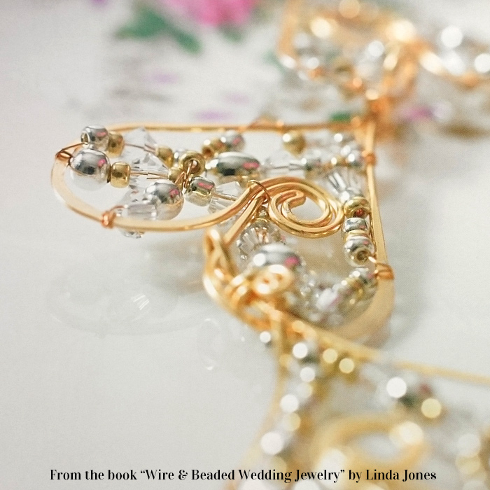 wire beaded wedding jewelry by linda jones book review