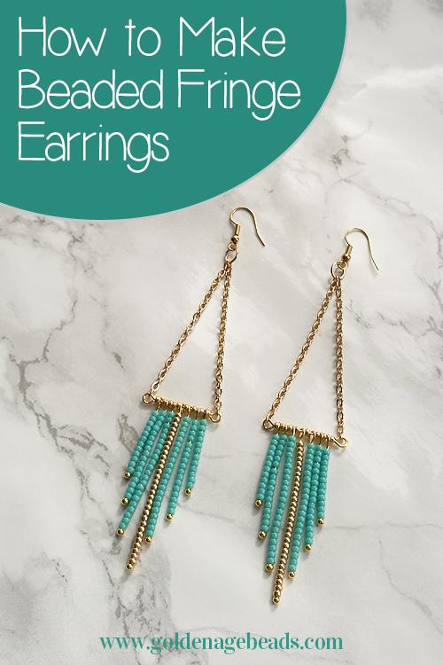 Beaded Fringe Earrings Tutorial | Golden Age Beads